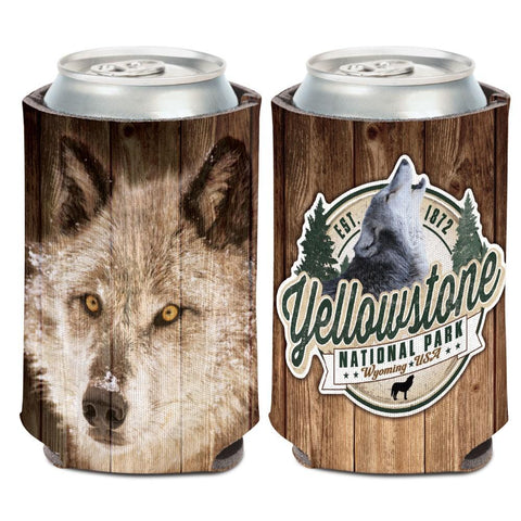 Yellowstone National Park Wyoming Wolf WinCraft Neoprene Drink Can Cooler
