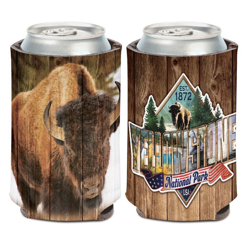 Yellowstone National Park American Bison WinCraft Neoprene Drink Can Cooler