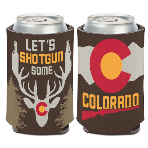 "Colorado ""Let's Shotgun Some"" Deer WinCraft Neoprene Drink Can Cooler"