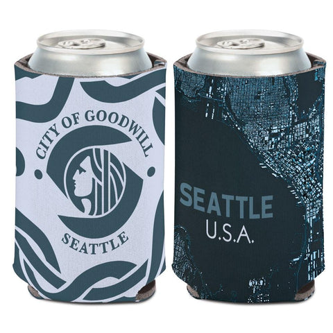"Seattle Washington ""City of Goodwill"" WinCraft Neoprene Drink Can Cooler"
