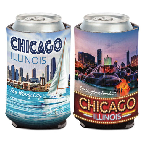 Shop Chicago Illinois The Windy City Buckingham Fountain WinCraft Drink Can Cooler