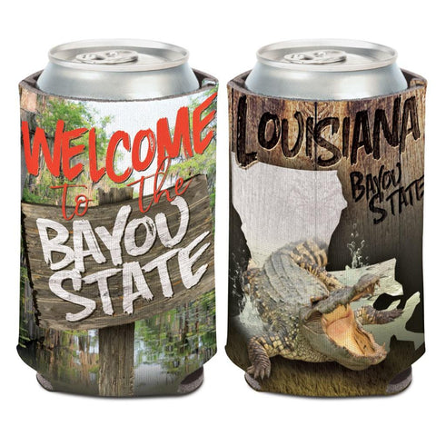 "Louisiana ""Welcome to the Bayou State"" WinCraft Neoprene Drink Can Cooler"