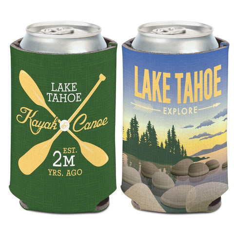 Lake Tahoe Sierra Nevada Mountains Kayak Canoe WinCraft Drink Can Cooler