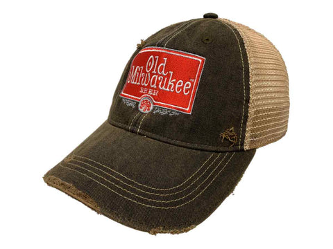 Old Milwaukee Beer Pabst Brewing Company Retro Brand Distressed Mesh Hat Cap - Sporting Up