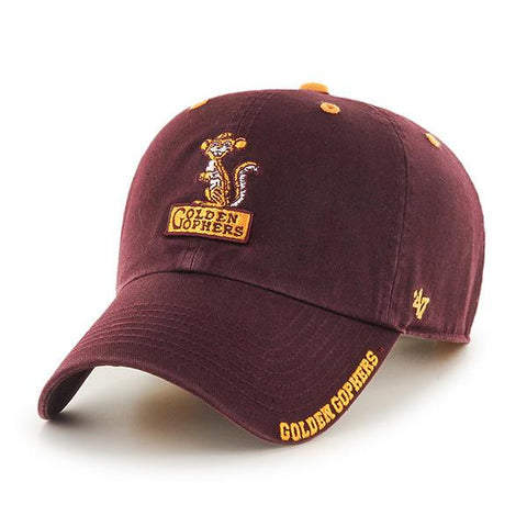 Minnesota Golden Gophers '47 Brand Vintage Dark Maroon Clean Up Adj Hat Cap