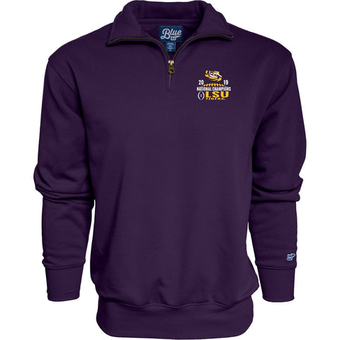 LSU Tigers 2019-2020 CFP National Champions Purple 1/4 Zip Long Sleeve Pullover