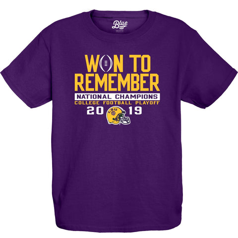 "LSU Tigers 2019-2020 Football National Champions YOUTH ""Won to Remember"" T-Shirt"