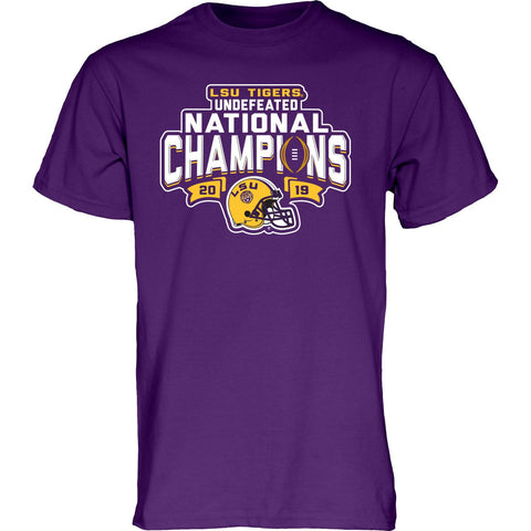 "LSU Tigers 2019-2020 Football National Champions Purple ""Undefeated"" T-Shirt"