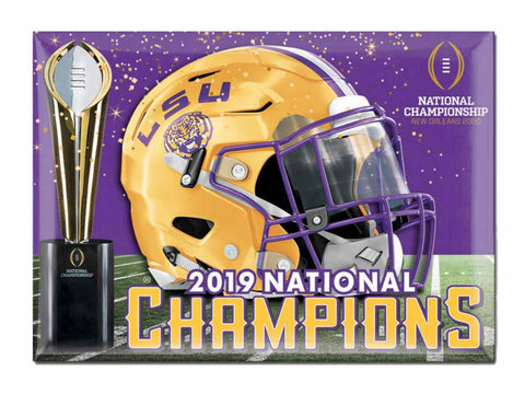 LSU Tigers 2019-2020 CFP National Champions WinCraft Refrigerator Magnet - Sporting Up