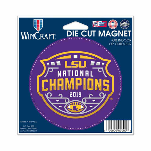 LSU Tigers 2019-2020 CFP National Champions WinCraft Die-Cut Magnet - Sporting Up