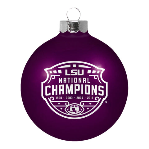 LSU Tigers 2019-2020 CFP National Champions Boelter Brands Purple Glass Ornament