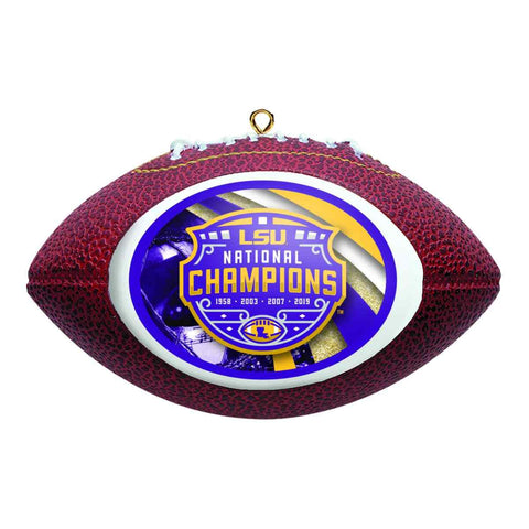 LSU Tigers 2019-2020 CFP National Champions Boelter Brands Football Ornament