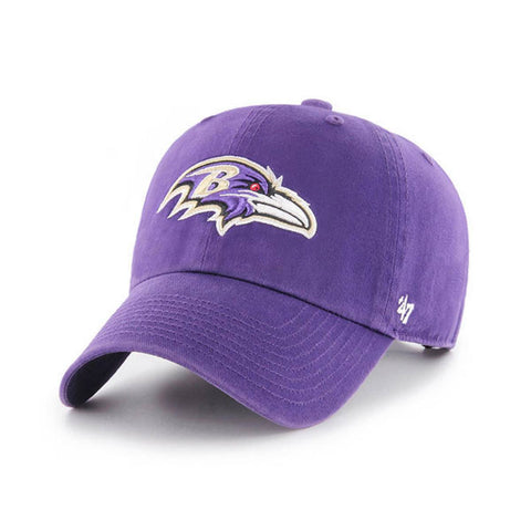"Baltimore Ravens '47 Brand Purple ""Clean Up"" Adjustable Strapback Slouch Hat Cap"
