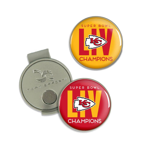 Kansas City Chiefs 2020 Super Bowl LIV Champions Hat Clip w/ Golf Ball Markers