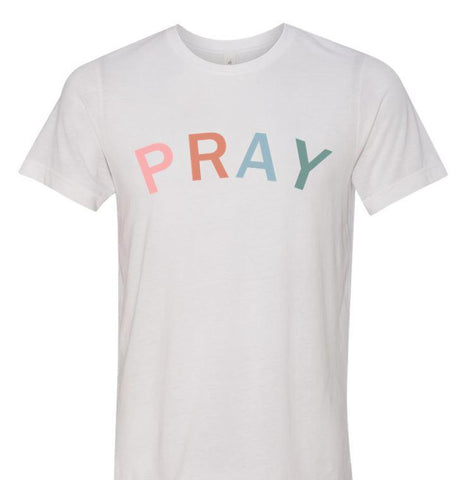 PRAY Unisex Adult White Soft T-Shirt