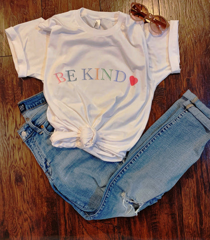 BE KIND Unisex Adult White Soft T-Shirt