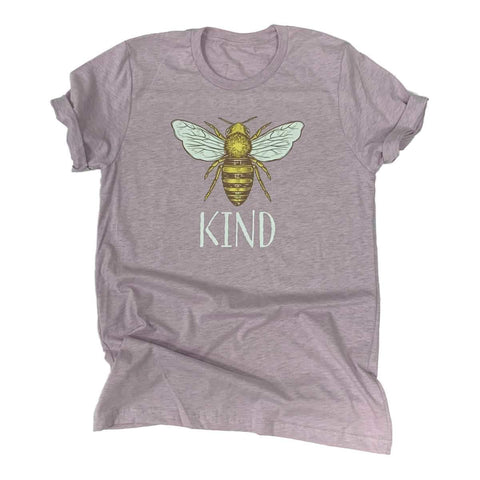 Bee Kind Unisex Heather Prism Lilac Light Purple Cotton Blend T-Shirt