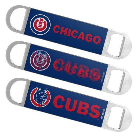 Chicago Cubs MLB Boelter Brands Hologram Logo Metal Bottle Opener Bar Key - Sporting Up