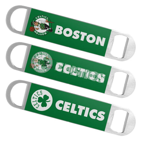 Boston Celtics Boelter Brands Hologram Logo Metal Bottle Opener Bar Key - Sporting Up
