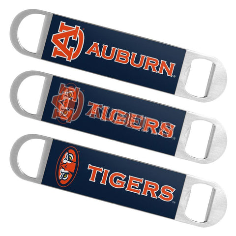 Auburn Tigers Boelter Brands Hologram Logo Metal Bottle Opener Bar Key - Sporting Up
