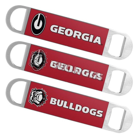 Georgia Bulldogs Boelter Brands Hologram Logo Metal Bottle Opener Bar Key - Sporting Up