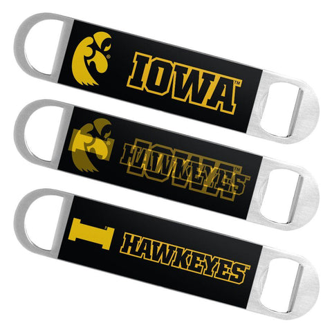 Iowa Hawkeyes Boelter Brands Hologram Logo Metal Bottle Opener Bar Key - Sporting Up