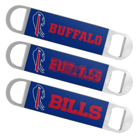 Buffalo Bills NFL Boelter Brands Hologram Logo Metal Bottle Opener Bar Key - Sporting Up