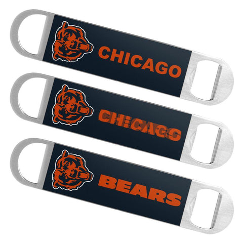 Shop Chicago Bears NFL Boelter Brands Hologram Logo Metal Bottle Opener Bar Key - Sporting Up