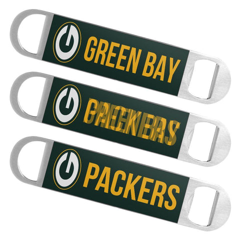 Green Bay Packers NFL Boelter Brands Hologram Logo Metal Bottle Opener Bar Key - Sporting Up