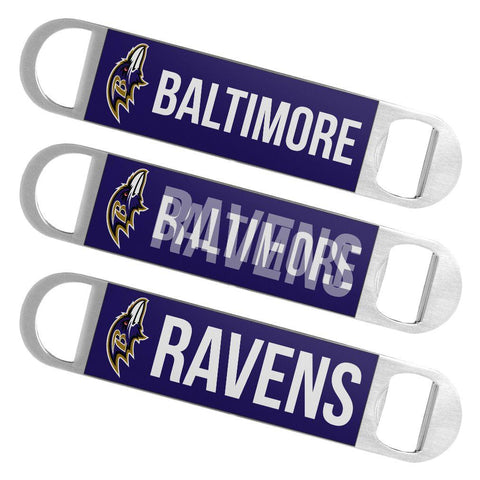 Baltimore Ravens NFL Boelter Brands Hologram Logo Metal Bottle Opener Bar Key - Sporting Up