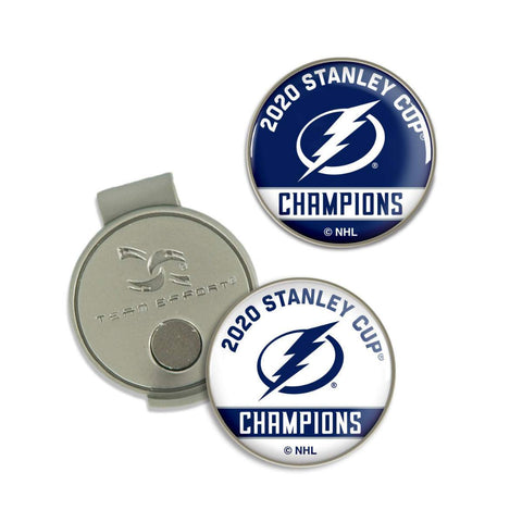 Tampa Bay Lightning 2020 NHL Stanley Cup Champions Hat Clip & Golf Ball Markers