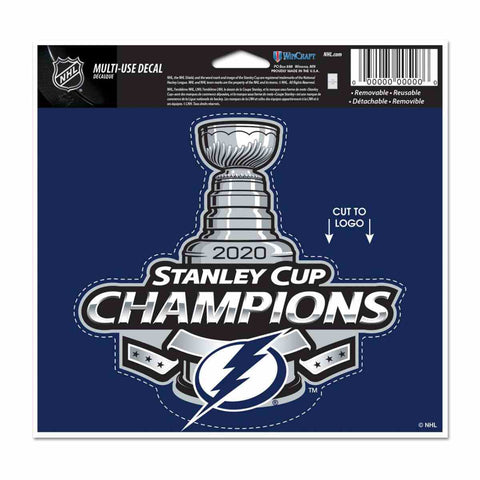 Tampa Bay Lightning 2020 NHL Stanley Cup Champions WinCraft Multi-Use Decal