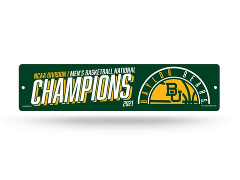 Shop Baylor Bears 2020-2021 NCAA Basketball National Champions Plastic Street Sign - Sporting Up