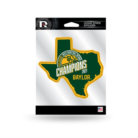 Shop Baylor Bears 2020-2021 NCAA Basketball National Champions Home State Sticker - Sporting Up