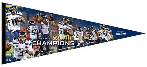 Shop Seattle Seahawks Super Bowl XLVIIII Champions 17''x 40'' Players Premium Pennant - Sporting Up