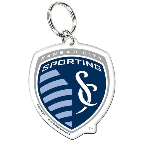 Shop Sporting KC Kansas City Logo Wincraft Premium MLS Acrylic Key Ring Keychain