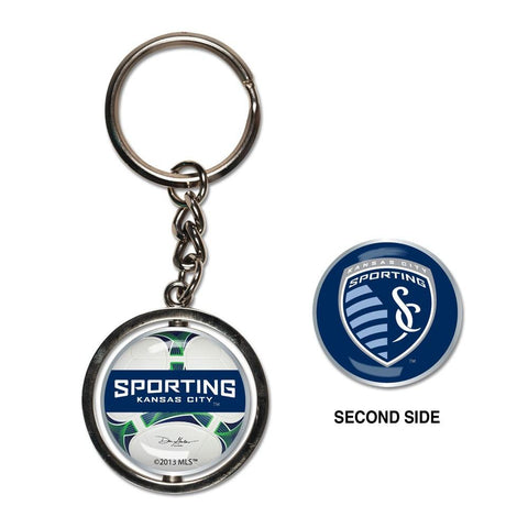 Shop Sporting KC Kansas City Logo Soccer Ball Wincraft Premium MLS Key Ring Keychain