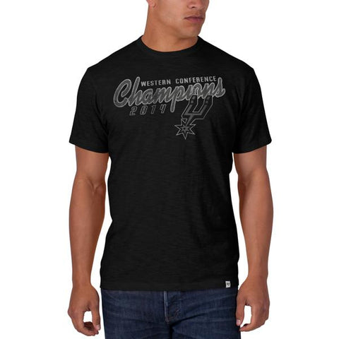 San Antonio Spurs 47 Brand 2014 Western Conference Champions Black Scrum T-Shirt