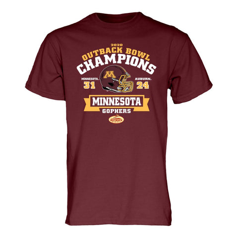 Minnesota Golden Gophers 2020 CFP Outback Bowl Champions Game Score T-Shirt