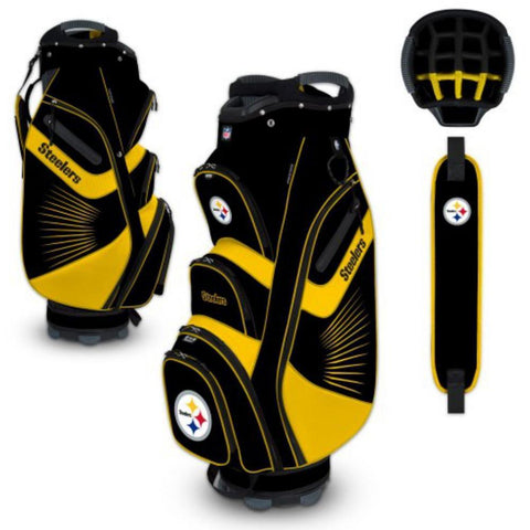 "Pittsburgh Steelers WinCraft ""The Bucket II"" 14-Way Cooler Cart Golf Bag"