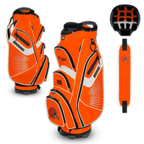 "Cleveland Browns WinCraft ""The Bucket II"" 14-Way Cooler Cart Golf Bag"