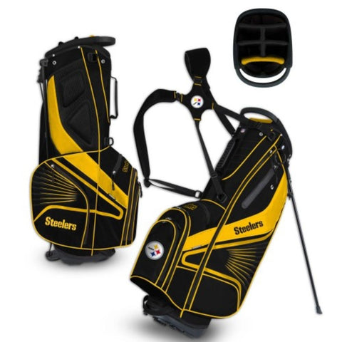 "Pittsburgh Steelers WinCraft ""Grid Iron III"" 6-Way Stand Golf Bag"