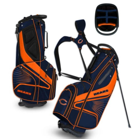 "Chicago Bears WinCraft ""Grid Iron III"" 6-Way Stand Golf Bag"