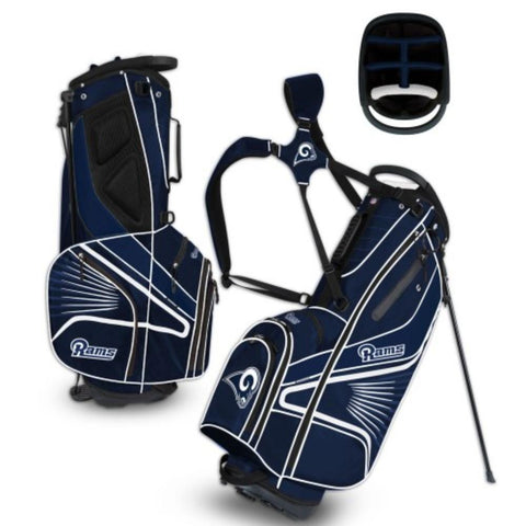 "Los Angeles Rams WinCraft ""Grid Iron III"" 6-Way Stand Golf Bag"