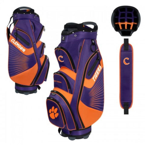 "Clemson Tigers WinCraft ""The Bucket II"" 14-Way Cooler Cart Golf Bag"