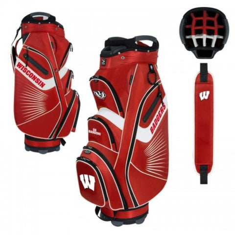 "Wisconsin Badgers WinCraft ""The Bucket II"" 14-Way Cooler Cart Golf Bag"