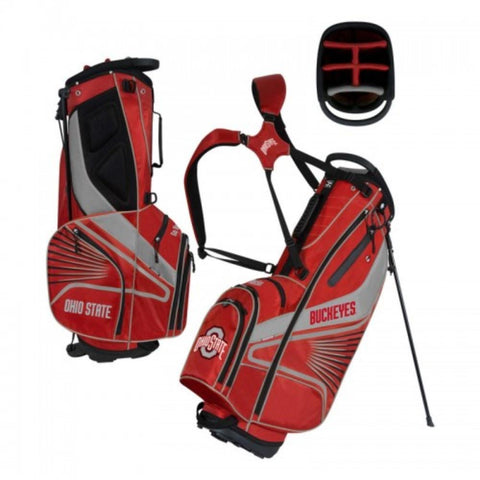 "Ohio State Buckeyes WinCraft ""Grid Iron III"" 6-Way Stand Golf Bag"