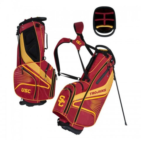 "USC Trojans WinCraft ""Grid Iron III"" 6-Way Stand Golf Bag"