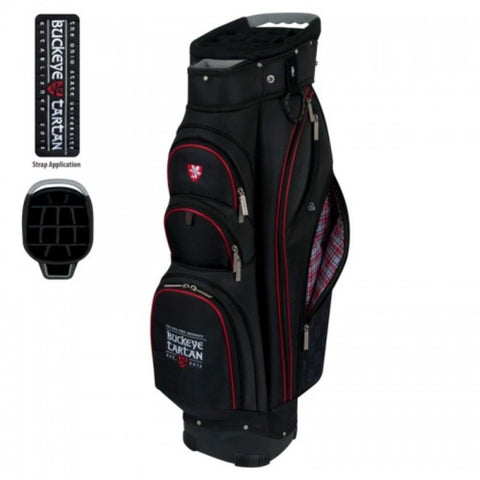 "Ohio State Buckeyes Tartan WinCraft ""The Bucket II"" 14-Way Cooler Cart Golf Bag"