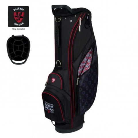 "Ohio State Buckeyes Tartan WinCraft ""Grid Iron III"" 6-Way Stand Golf Bag"